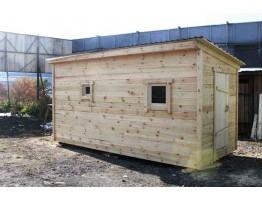 Баня деревянная мобильная 4*2,4
