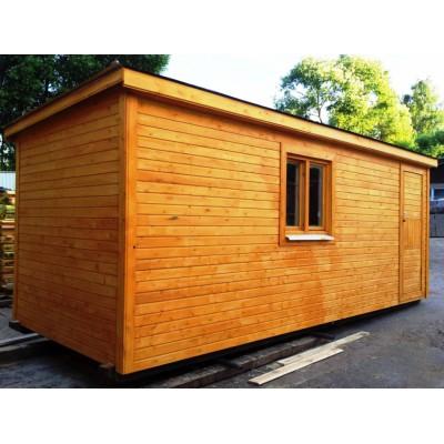 Баня деревянная 5*2,4 мобильная
