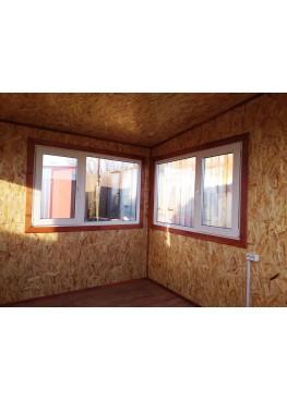 Бытовка строительная стандарт 4*2,4 внутри OSB