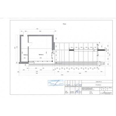 Торгово-остановочный комплекс S павильона 35 кв. м, S застройки 93,78кв. м