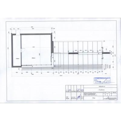 Торгово-остановочный комплекс S павильона 50 кв. м, S застройки 124,0 кв. м